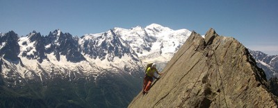 grandes voies d'escalade